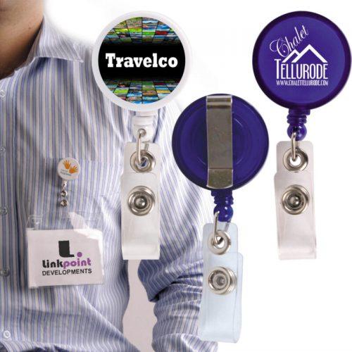 Corfu Retractable Name Badge Holder
