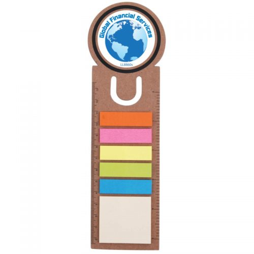 oz001 Circle Bookmark Ruler with Noteflags
